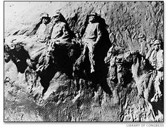 Gutzon Borglum created this carving in Stone Mountain, GA  before he created Mount Rushmore (photo credit: Library of Congress)