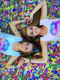 Alpha Gamma Delta Bid Day 2016 - Color Run Theme - Big and Little