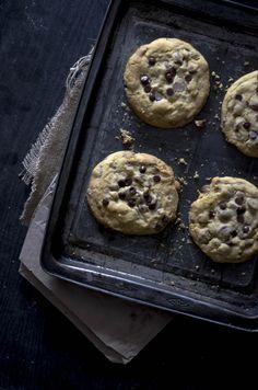 Chocolate chip cookies Chocolate Chip Cookies, Muffin, Creativity, Chips, Breakfast, Desserts, Food, Morning Coffee, Tailgate Desserts