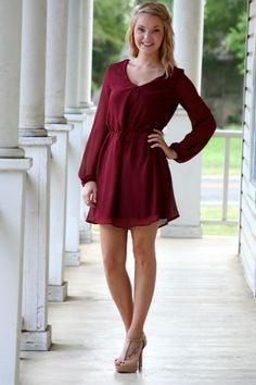 Jet Setting Dress - Maroon. More cute dresses on this website too