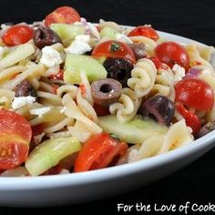 Mediterranean Pasta Salad — Recipe from For the Love of Cooking
