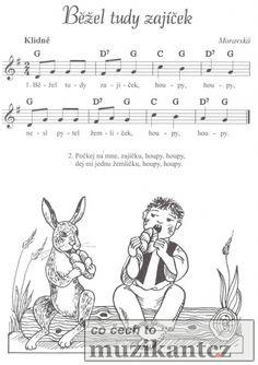 písničky pro děti - Hledat Googlem Kids Songs, Ukulele, Piano, Notes, Facebook, Sheet Music, Children Songs, Pianos