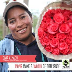 Give your mom flowers that were grown with love. #FairTrade flowers support women in Ecuador by ensuring safe working conditions, protection from hazardous chemicals, and more. Order soon so they arrive in time for Mother's Day! http://www.fairtradeusa.org/blog/order-fair-trade-certified-flowers-mom