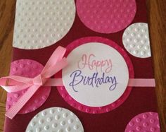 Handmade Birthday Greeting Card by scrappinbjs. Explore more products on http://scrappinbjs.etsy.com
