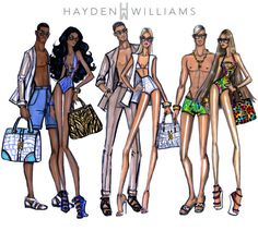 Cool Coordination, In Sync and Tropical Twosome by Hayden Williams