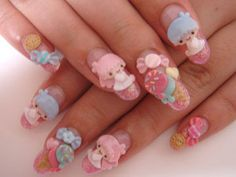 I couldn't go all out like this - i'd have those off in 5 minutes.  but they look cool.