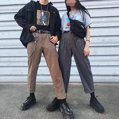 graphic tee and highwaters are my current style Grunge Outfits, Grunge Fashion, Fashion Outfits, Fall Fashion, Womens Fashion, Streetwear Mode, Streetwear Fashion, Couple Outfits, Types Of Fashion Styles