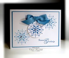 another simple design for snowflakes; great for secular card or holiday thank-you