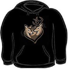 Hoodie: deer couple together forever love hoodies sweat shirt