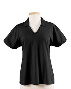 50/50 Jersey Ladies' Knit Polo, Color: Black, Size: XX-Large Jerzees. $7.34