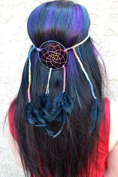 Black And Rainbow Dreamcatcher Headband – VividBloom