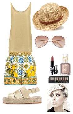 """""""ordinary day"""" by mcounce on Polyvore featuring Dolce&Gabbana, Iris & Ink, Loeffler Randall, H&M, Chaps, Forever 21, MAC Cosmetics and Essie"""