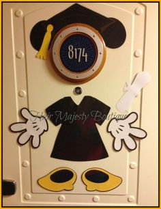 Mickey or Minnie Mouse Graduate Body Part Magnet for Cruise Door