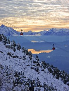 The cable-car to Cerro Otto in Bariloche, Argentina