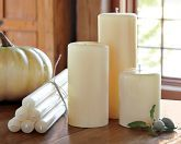 Beewax candles in white/cream
