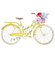 Watercolor bike bicycle vector - by Zenina on VectorStock®