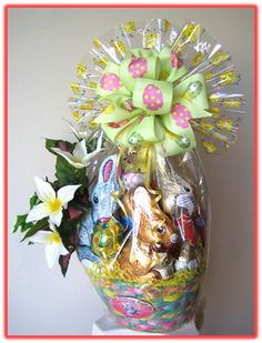 Lindt lindor easter mug containing a bouquet of lindor chocolate traditional easter an assortment of fine chocolates nested in an easter gift basket negle Choice Image