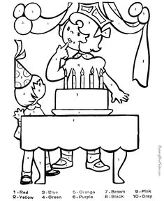 free color by number coloring picture - Color The Picture