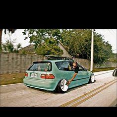 Honda civic #hellaflush #slammed #lowlife