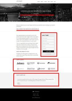 Designing a Landing Page for your Website Your Website, Online Advertising, Seo Services, Landing, Let It Be, Design, Design Comics