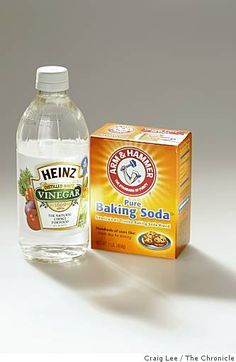 kitchen sink deodorizer. put half box of baking soda into drain, then pour vinegar on top,let it bubble and leave for 30(ish) minutes, then rinse with scalding hot water. no more stinky drain!