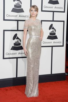 taylor swift grammys dress 2014 GRAMMY Awards Red Carpet Style