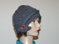 Hand Knit 1920s Art Deco Inspired Hat by MadMadameHatter on Etsy