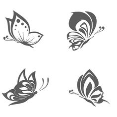 Väggdekor - 4 olika Fjärilar