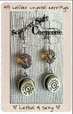 Bullet Jewelry Earrings Crystal Bullet Pierced