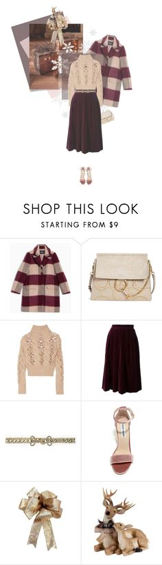"""Xmas time"" by kgarden ❤ liked on Polyvore featuring Max&Co., Chloé, MM6 Maison Margiela, Yves Saint Laurent, BCBGMAXAZRIA and Steve Madden"