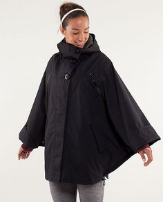 Lululemon Peak To Peak Poncho - quilted inside, great for cold and or rain