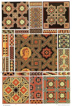 Middle-Ages Wood Mosaic