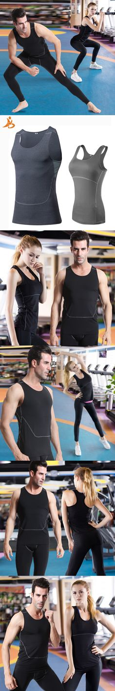 Valentine'S Day GYM Compression Tights Men's  T-Shirt Sleeveless Sport Tank Top Fitness Women Top Quick Dry Couple Running Vest