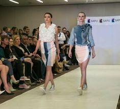 #designer Natalia Sobczyk our #graduate during No Waste 2017 #fashionshow #crafw17 #schoolofdesign #fashion #silhouette