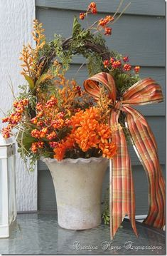 Creative Home Expressions: Pinterest Inspired Fall Project & A Winner