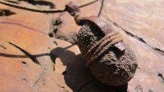 interesting bail    Shaman Stone Moqui Balls / Boji Stone Pendant by SpiralSoulTribe