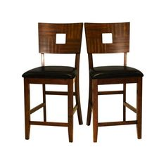 Counter Height Chairs, Set Of Two Counter Height (18 To 26 Inch) Bar Stools Kitchen & Din