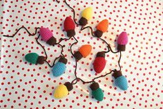 Mesmerizing Crochet an Amigurumi Rabbit Ideas. Lovely Crochet an Amigurumi Rabbit Ideas. Christmas Lights Garland, Crochet Christmas Ornaments, Holiday Crochet, Christmas Knitting, Handmade Christmas, Christmas Crafts, Holiday Lights, Light Garland, Christmas Decorations