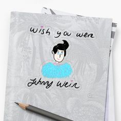 'Wish You Were Johnny Weir' Sticker by richwear Johnny Weir, Plastic Stickers, Personalized Water Bottles, Wish You Are Here, Transparent Stickers, Sell Your Art, Sticker Design, My Arts, Reusable Tote Bags