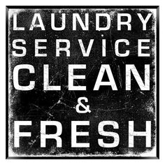 Laundry Service Wall Art - want for my laundry room :)