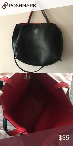 Urban Outfitters Tote Vegan Leather, used but still in great condition. 3/5 condition. Lots of life left~ Urban Outfitters Bags Totes