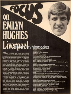 Liverpool Football Club, Liverpool Fc, Football Team, Emlyn Hughes, Blackpool, Google Images, Royalty, Royals