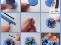 Best Ideas For Cake Art Tutorial Fimo Polymer Clay Kunst, Fimo Clay, Polymer Clay Projects, Clay Beads, Polymer Clay Jewelry, Fondant Flower Tutorial, Fondant Flowers, Paper Flowers, Diy Tutorial