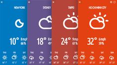 beautifully designed weather app for linux