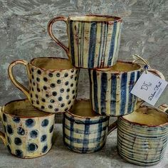 "The word ""ceramics"" comes form the Greek word ""keramikos"", which means pottery. The line of the Greek word means potter's clay and ceramic art directly … Pottery Mugs, Ceramic Pottery, Pottery Art, Thrown Pottery, Slab Pottery, Pottery Studio, Pottery Wheel, Ceramic Cups, Ceramic Art"