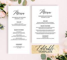The 23 best Menu Templates editable menu cards images on Pinterest