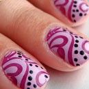 nail art using stamps...im buying this!