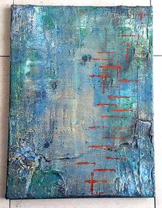 Acrylbild Leinwand 40 x 30 abstraktes Strukturbild von BeGehrLich
