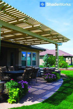 Transform your backyard with a ShadeWorks patio cover or pergola. With multiple colors and styles to choose from you're sure to find the perfect fit! Learn more at ShadeWorks.com