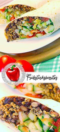 Pflanzlich und herzhaft frühstücken? Check. Mit den veganen Frühstücksburritos überhaupt kein Problem. Knackiger #salat, frische #tomaten und kräftiges #Sonnenblumenhack. Einfach und schnell zu machen und herrlich zu genießen. #heftigvegan #pflanzlich #reinpflanzlich #herzhaft #frühstück #snacks #burritos #fastfood #deftig #lecker #einfach #vegan Fast Food, Burritos, Salmon Burgers, Sandwiches, Ethnic Recipes, Breakfast Snacks, Vegan Breakfast, Vegane Rezepte, Fresh